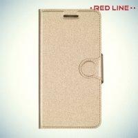 Red Line чехол книжка для Lenovo C2 Power - Золотой