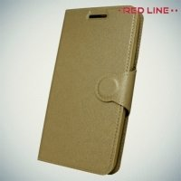 Red Line чехол книжка для Lenovo Vibe C2 (K10A40) - Золотой