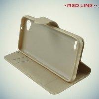 Red Line чехол книжка для LG Q6 M700AN / Q6a M700 - Золотой
