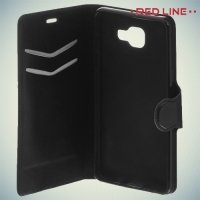 Red Line чехол книжка для Samsung Galaxy J3 2016 SM-J320F - Черный
