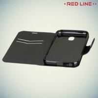Red Line чехол книжка для Samsung Galaxy J3 2017 SM-J330F - Черный