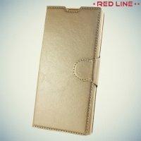 Red Line чехол книжка для Sony Xperia XA1 - Золотой