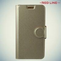 Red Line чехол книжка для Xiaomi Redmi 4X - Золотой