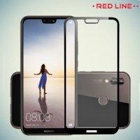 Red Line Full Glue 3D стекло для Huawei P20 Lite с полным клеевым слоем - Черная рамка