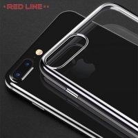 Red Line iBox Blaze силиконовый чехол для iPhone 8 Plus / 7 Plus с металлизированными краями - Черный