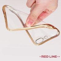 Red Line iBox Blaze силиконовый чехол для iPhone 8 Plus / 7 Plus с металлизированными краями - Золотой