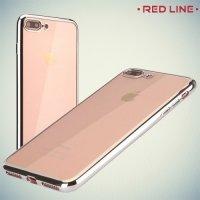 Red Line iBox Blaze силиконовый чехол для iPhone 8 Plus / 7 Plus с металлизированными краями - Серебряный