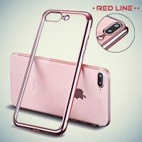 Red Line iBox Blaze силиконовый чехол для iPhone 8 Plus / 7 Plus с металлизированными краями - Розовый