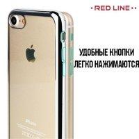 Red Line iBox Blaze силиконовый чехол для iPhone 8/7  с металлизированными краями - Серебряный