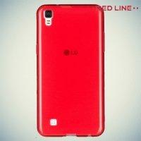 Red Line силиконовый чехол для LG X cam - Красный