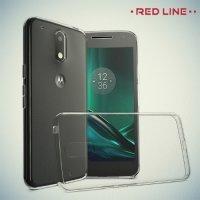Red Line силиконовый чехол для Motorola Moto G4 Play - Прозрачный