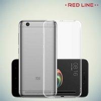 Red Line силиконовый чехол для Xiaomi Redmi 5a - Прозрачный