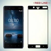 3D Защитное стекло для Nokia 8 - Черное Red Line