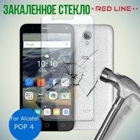 Red Line Закаленное защитное стекло на весь экран для Alcatel POP 4 5051D