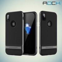 ROCK Royce Series Гибридный двухкомпонентный защитный чехол для iPhone Xs / X - Серый