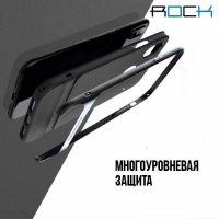 ROCK Royce Series Гибридный двухкомпонентный защитный чехол для iPhone X - Серый