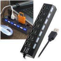 7 USB хаб концентратор для передачи данных с отдельными переключателями