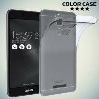 Силиконовый чехол для Asus ZenFone 3 Max ZC520TL - Глянцевый Прозрачный