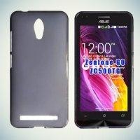 Силиконовый чехол для ASUS ZenFone Go ZC500TG - Матовый Черный