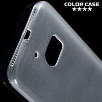 Силиконовый чехол для HTC 10 - Глянцевый Белый Прозрачный