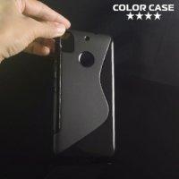 Силиконовый чехол для HTC Desire 10 pro - S-образный Черный