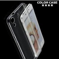 Силиконовый чехол для HTC Desire 728, 728G Dual SIM - Глянцевый Прозрачный