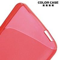 Силиконовый чехол для HTC Desire 728 и 728G Dual SIM - S-образный Красный