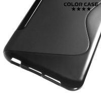 Силиконовый чехол для HTC One A9 - S-образный Черный