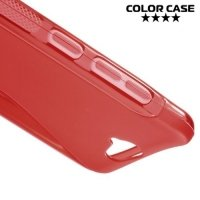 Силиконовый чехол для HTC One A9 - S-образный Красный