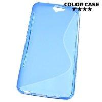 Силиконовый чехол для HTC One A9 - S-образный Синий