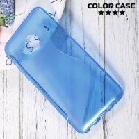 Силиконовый чехол для HTC U Play - S-образный Синий