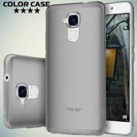 Силиконовый чехол для Huawei Honor 5C - Полупрозрачный черный