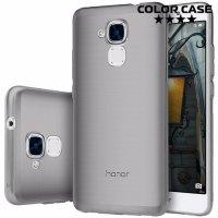 Силиконовый чехол для Huawei Honor 5C - Глянцевый Полупрозрачный черный