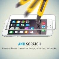 Hat-Prince 3D закругленное защитное стекло для iPhone 8/7 с серебряной рамкой