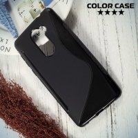Силиконовый чехол для Huawei Honor 6x - S-образный Черный