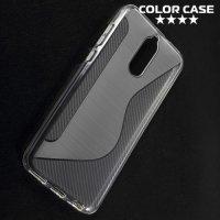 Силиконовый чехол для Huawei Nova 2i - S-образный Серый