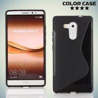 Силиконовый чехол для Huawei Mate 8 - S-образный Черный