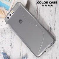 Силиконовый чехол для Huawei P10 - S-образный Серый