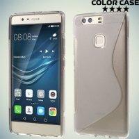 Силиконовый чехол для Huawei P9 Plus - S-образный Серый