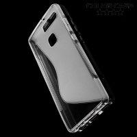 Силиконовый чехол для Huawei P9 - S-образный Прозрачный