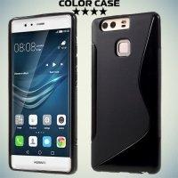 Силиконовый чехол для Huawei P9 - S-образный Черный