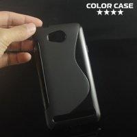 Силиконовый чехол для Huawei Y3 II - S-образный Черный