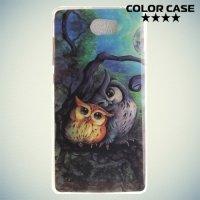 Силиконовый чехол для Huawei Y5 II / Honor 5A - с рисунком Совята