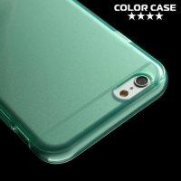 Силиконовый чехол для iPhone 6S / 6 - Глянцевый Голубой