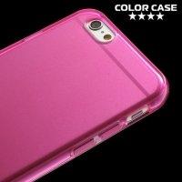 Силиконовый чехол для iPhone 6S / 6 - Глянцевый Розовый