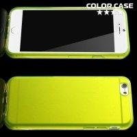 Силиконовый чехол для iPhone 6S / 6 - Глянцевый Желтый