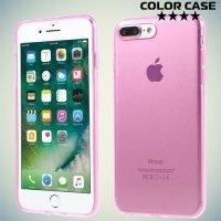 Силиконовый чехол для iPhone 8 Plus / 7 Plus - Глянцевый Розовый