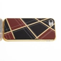 Силиконовый чехол для iPhone 8/7 с металлизированными краями - Винно Красный / Черный