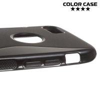 Силиконовый чехол для iPhone 8/7 - S-образный Черный