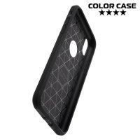 Силиконовый чехол для iPhone Xs / X - S-образный Черный